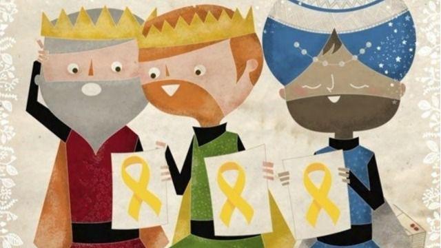 Piden recibir de amarillo a los Reyes Magos por los presos soberanistas