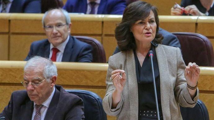 Calvo defiende la reunion del viernes entre los dos presidentes en Barcelona