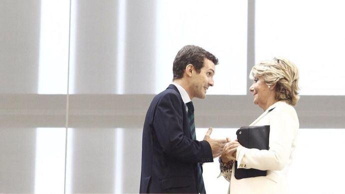 """Aguirre se """"identifica"""" con Casado y le atribuye la victoria en Andalucía"""