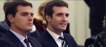 Casado y Rivera pelean por el liderazgo de la derecha en Andalucia