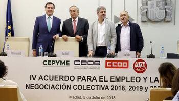 Firma de Patronal y Sindicatos hasta el 2020