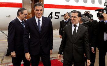 Pedro Sanchez con el primer ministro marroquí Saadedin Al Othmani en noviembre de 2018.