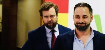 Santiago Abascal e Iván Espinosa de los Monteros.