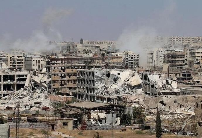 La ciudad siria de Alepo en ruinas.