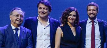 Isabel Díaz Ayuso y Pablo Casado.