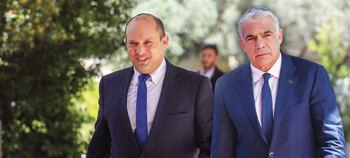 Los dos primeros ministros: Naftali Bennet y Yair Lapid. Dos años cada uno.