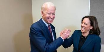 Joe Biden y su candidata a vicepresidenta Kamala Harris.