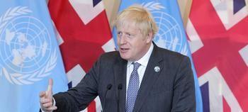 Boris Johnson en la Asamblea de la ONU.