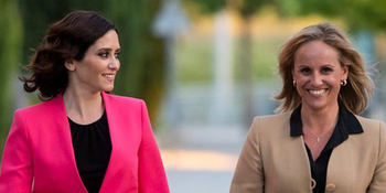 Isabel Díaz Ayuso y Ana Camins.
