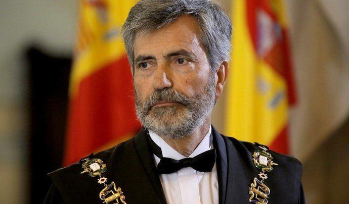Carlos Lesmes presidente del Consejo del Poder Judicial en funciones desde finales de 2018.