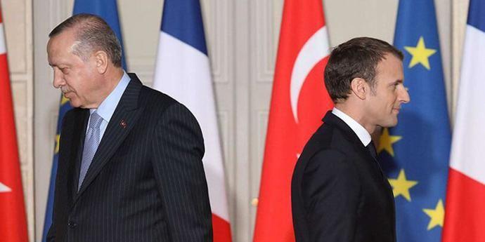 Los presidentes turco, Erdogan, y francés, Macron, enfrentados.