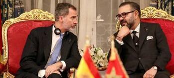 El rey Felipe VI con Mohamed VI.