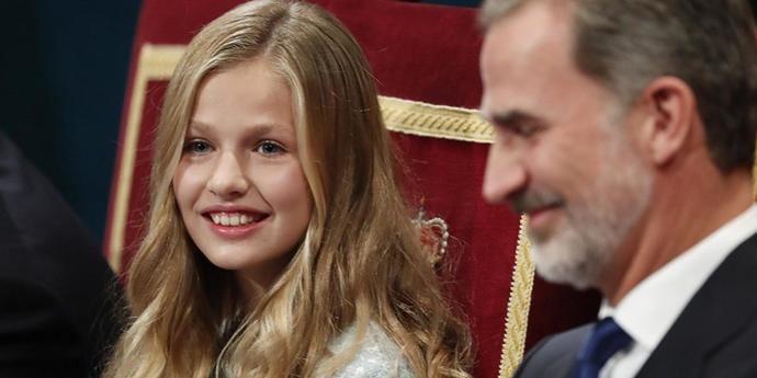 Leonor y su padre Felipe VI
