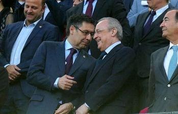 Josep Maria Bartomeu  y Florentino Pérez.