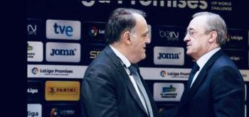 Javier Tebas y Florentino Pérez.