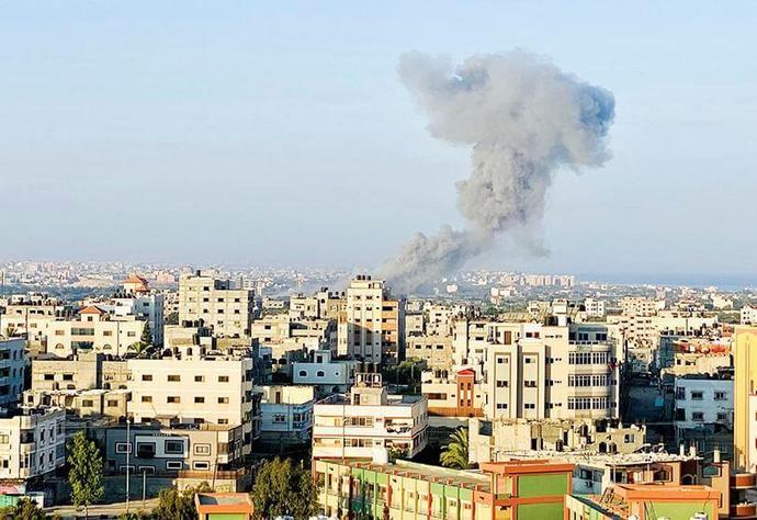 Ataque aéreo israelí en la Franja de Gaza el 28 de agosto de 2020