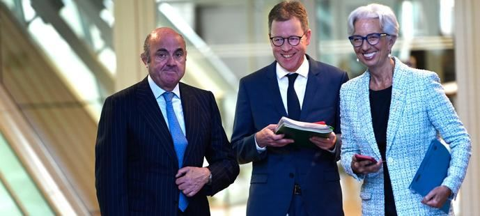 Luis de Guindos y Christine Lagarde, los máximos dirigentes del BCE.
