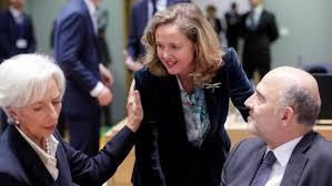 Nadia Calviño con Lagarde y Guindos.