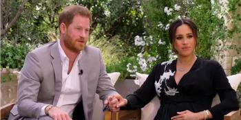 Harry y Meghan durante su polémica entrevista.