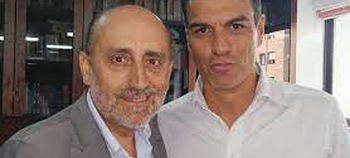 José Angel Hierro y Pedro Sánchez.