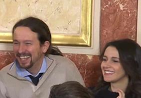 Pablo Iglesias e Inés Arrimadas.