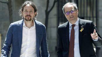 Pablo Iglesias y Quim Torra antes del coronavirus.