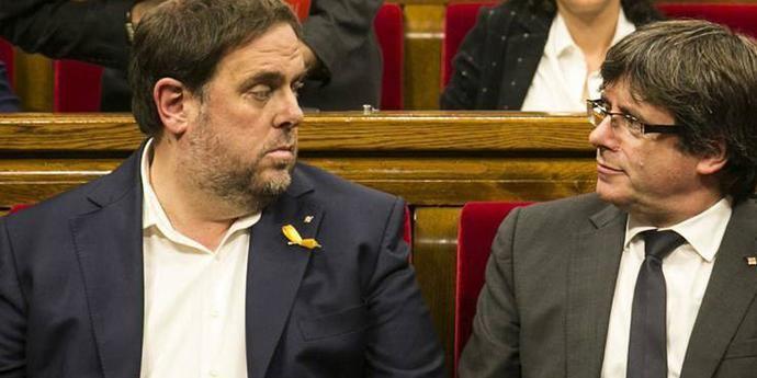 Oriol Junqueras y Carles Puigdemont cuando mandaban en la Generalitat catalana.