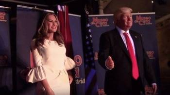 Melania Trump se instala en el Museo de Cera sin la polémica de su marido