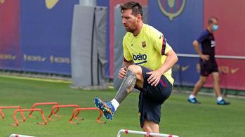 Lionel Messi en un entrenamiento.