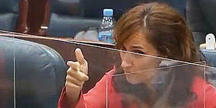 Mónica García en la Asamblea de Madrid.