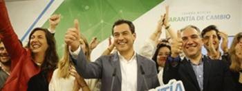 La derecha gana con comodidad y echa al PSOE del poder andaluz
