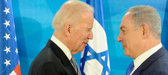 Joe Biden y Benjamín Netanyahu.