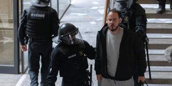 Pablo Hasél, detenido por los Mossos en LLeida.