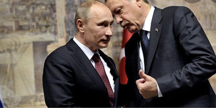 Vladimir Putin y el presidente turco Erdogan