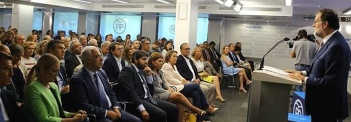 Rajoy a su Junta Directiva: No consentirá la 'estafa' de Puigdemont