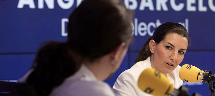 Rocío Monasterio (Vox) y Pablo Iglesias (Podemos).