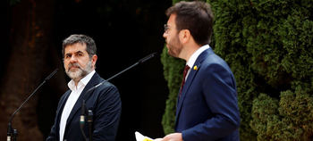 Jordi Sánchez y Pere Aragonés.