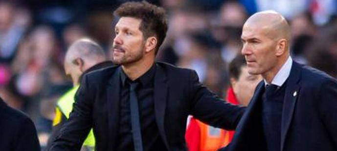 Simeone y Zidane.