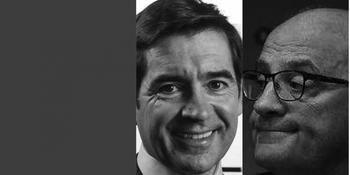 Los presidentes del BBVA, Carlos Torres, y del Sabadell, Josep Oliu.