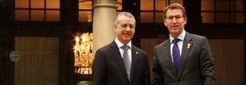 Los actuales presidentes de Euskadi y Galicia, Iñigo Urkullu y Alberto Núñez Feijóo.