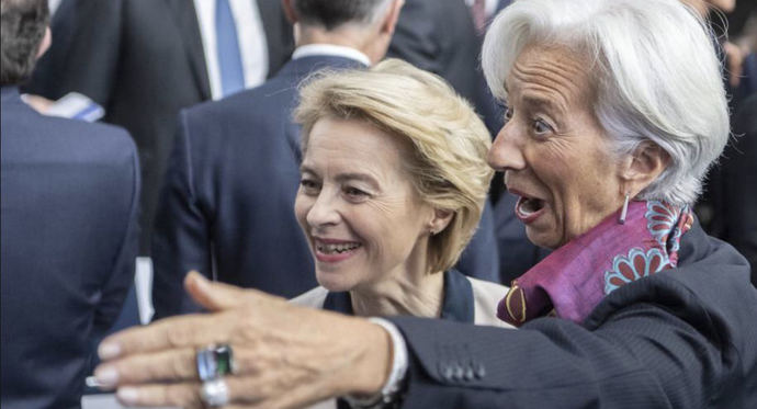 Ursula von der Leyen y Christine Lagarde.