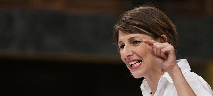 Yolanda Díaz en una intervención en el Congreso.